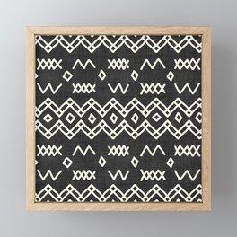 Farrah in Black and White Framed Mini Art Print
