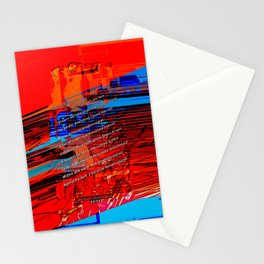 Cells Interlinked - Bold Red and Blue Stationery Cards