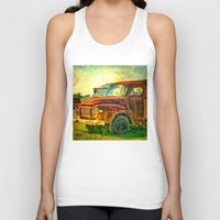 truck Tank Tops featuring Old Rusty Bedford Truck by Wendy Townrow