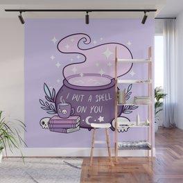 Witch Cauldron // Purple Wall Mural
