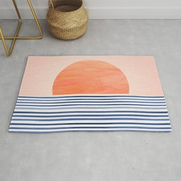 Summer Sunrise - Minimal Abstract Rug