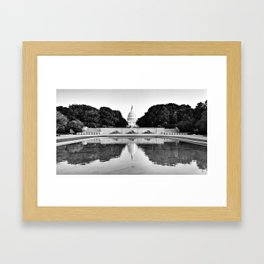 Capitol Reflected Framed Art Print