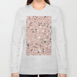 Pink Quartz and Marble Terrazzo Long Sleeve T-shirt