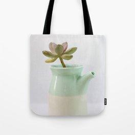 Succulent in tea pot Tote Bag