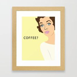 COFFEE? Framed Art Print