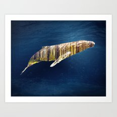 A Whale Dreams of the Forest Art Print