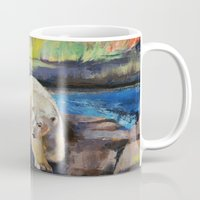 northern lights Mugs featuring Northern Lights by Michael Creese