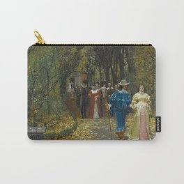 The Lovers (Les Fiances) Amazing Landscape Painting by Firmin-Girard Carry-All Pouch