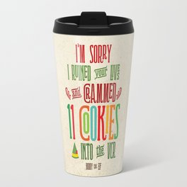 Buddy the Elf! I'm Sorry I Crammed 11 Cookies into the VCR Travel Mug