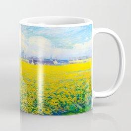 Václav Radimský (1867-1946) Field of Mustard Landscape Impressionist Oil Painting Coffee Mug