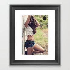Flower girl. Framed Art Print