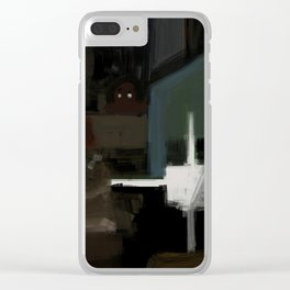 Creepy graveyard Clear iPhone Case