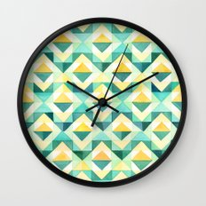Quilted Diamond // Geometric Watercolor Pattern Wall Clock