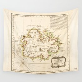 Map of Antigua by Juan Lopez (1780) Wall Tapestry