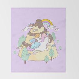 Bubu the Guinea pig, Unicorn Throw Blanket