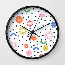 Florrie - White Wall Clock