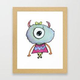 Cute Girl Monster Framed Art Print