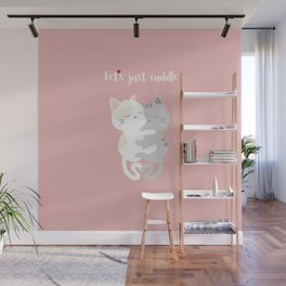 Cuddling kittens Wall Mural