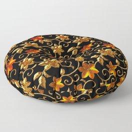 Metall Blumen Floor Pillow