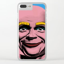Mr Clean Pop Art on Blue Background Clear iPhone Case