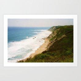 Mohegan Bluffs Cliffside, Block Island, Rhode Island Art Print