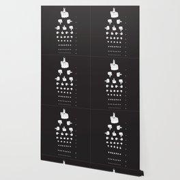 MIDDLE FINGER VISION TEST in black Wallpaper