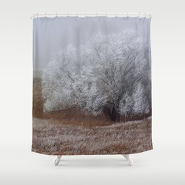 Frost and Fog Shower Curtain