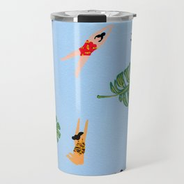 Floating in the sea Travel Mug