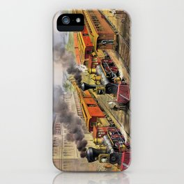 American Railroad Scene (Currier & Ives) iPhone Case