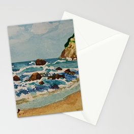 Block Island Beach Scene Stationery Cards