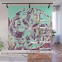 Los Angeles Ferris Wheel Abstract Mosaic Wall Mural