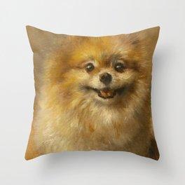 Pomeranian Painting #2 Throw Pillow