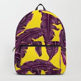 Banana leaves tropical leaves yellow #homedecor Backpack