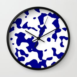 Large Spots - White and Dark Blue Wall Clock