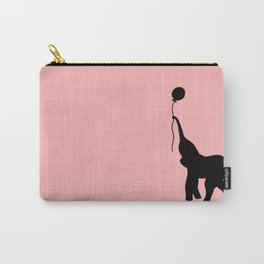 Elephant with Balloon - Pink Carry-All Pouch