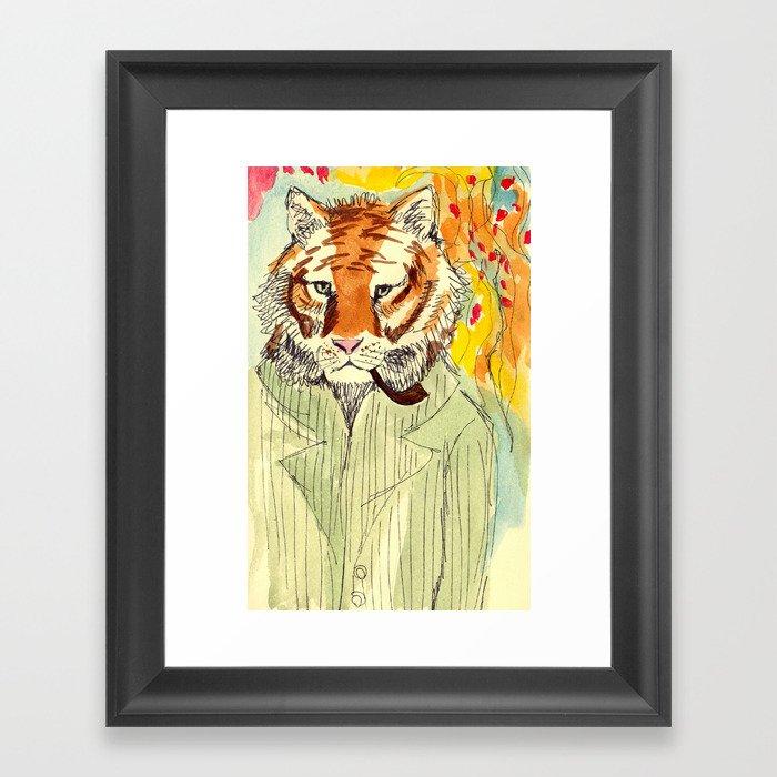 Tiger Man Framed Art Print