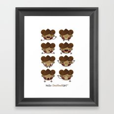 Chestnut Girl Mood Framed Art Print