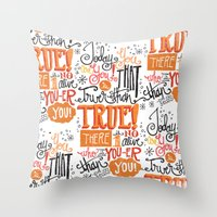 dr seuss Throw Pillows featuring TODAY YOU ARE YOU... - DR. SEUSS by Matthew Taylor Wilson