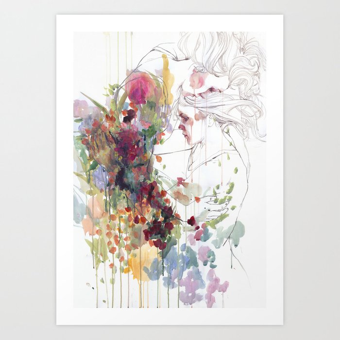 Discover the motif TAKE CARE OF YOUR GARDEN by Agnes Cecile as a print at TOPPOSTER