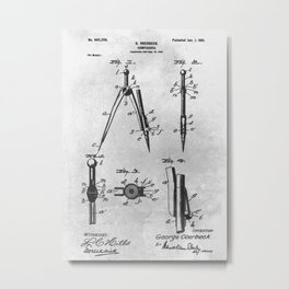 Compasses Metal Print