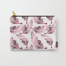 Modern mauve pink tropical summer leaves pattern Carry-All Pouch