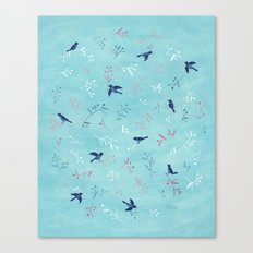 Winter Birds Canvas Print
