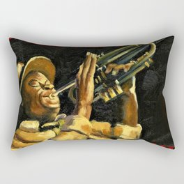 Vintage New Orleans Jazz Festival Advertising Wall Art Rectangular Pillow