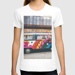 combi color flower pattern T-shirt