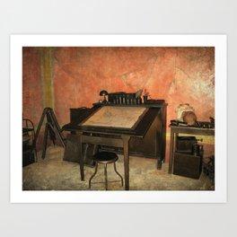 Antique Nautical Desk Art Print