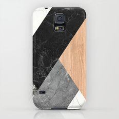 Marble and Wood Abstract Slim Case Galaxy S5