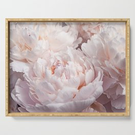 Floral Photography | Peony Pink Cluster | Flowers | Botanical | Plant Serving Tray