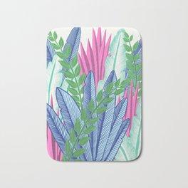 Modern Tropical Plants - Cool tones Bath Mat