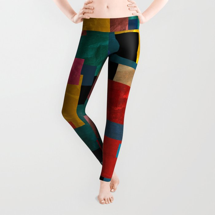 Abstract #302 Leggings