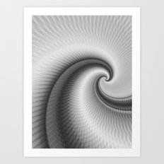 The Big Wave Spiral in Monochrome Art Print